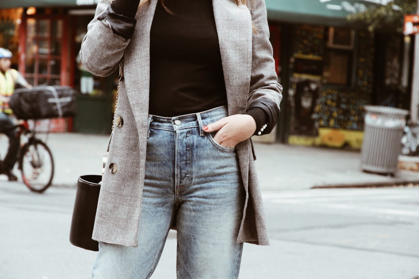 Grlfriend jeans and roll neck