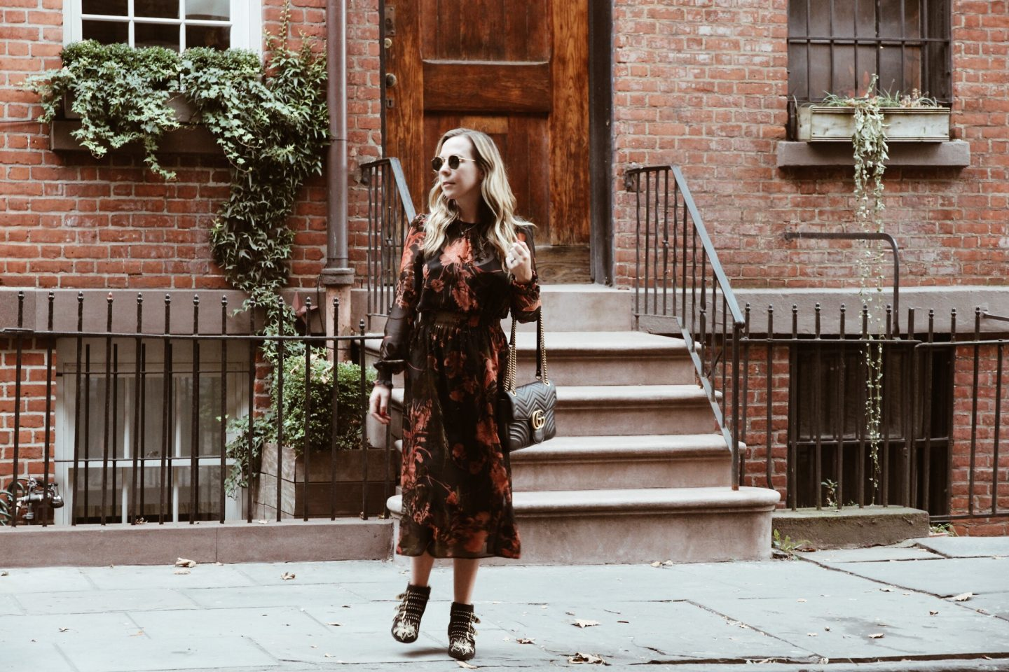 Long Floaty Floral Dress for Fall