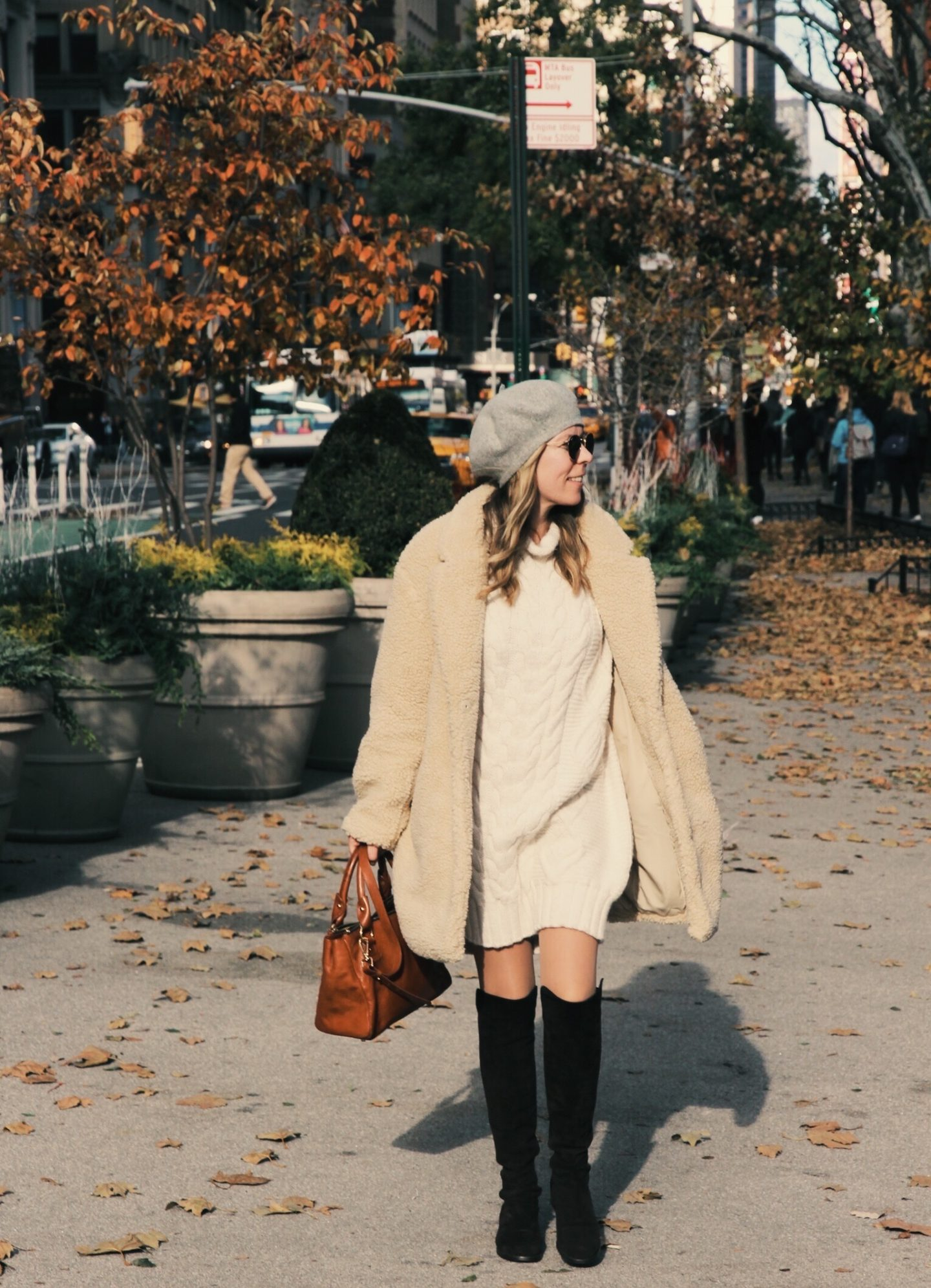 Cream Teddy Bear Coat