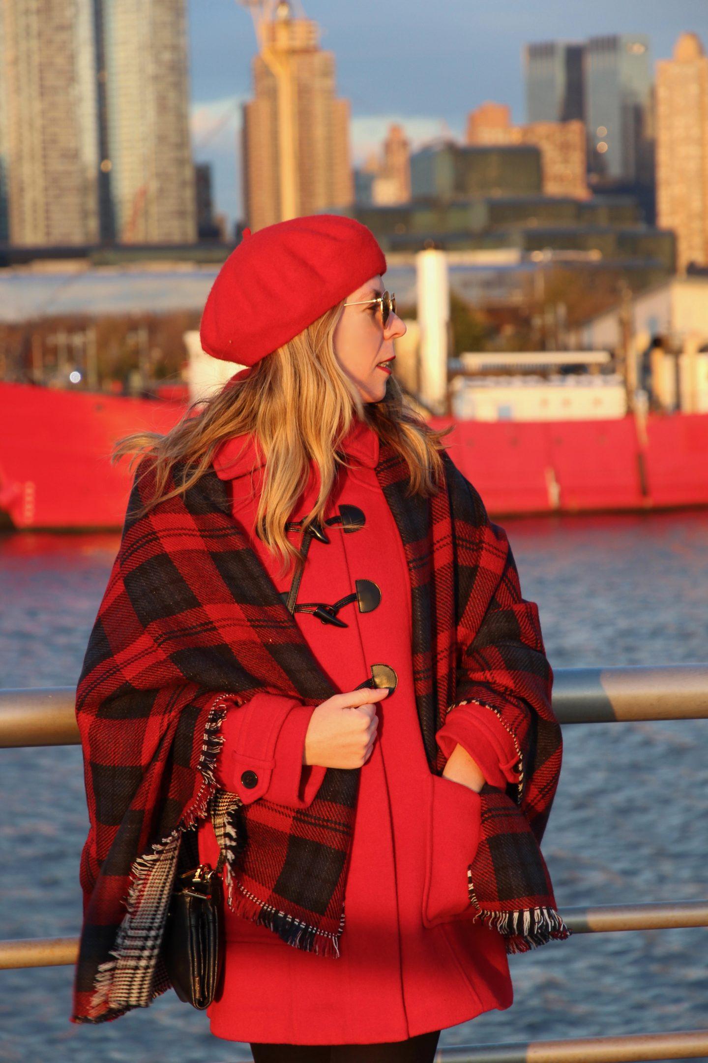 red winter 2017 fashion
