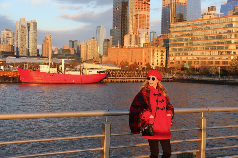 winter red coat