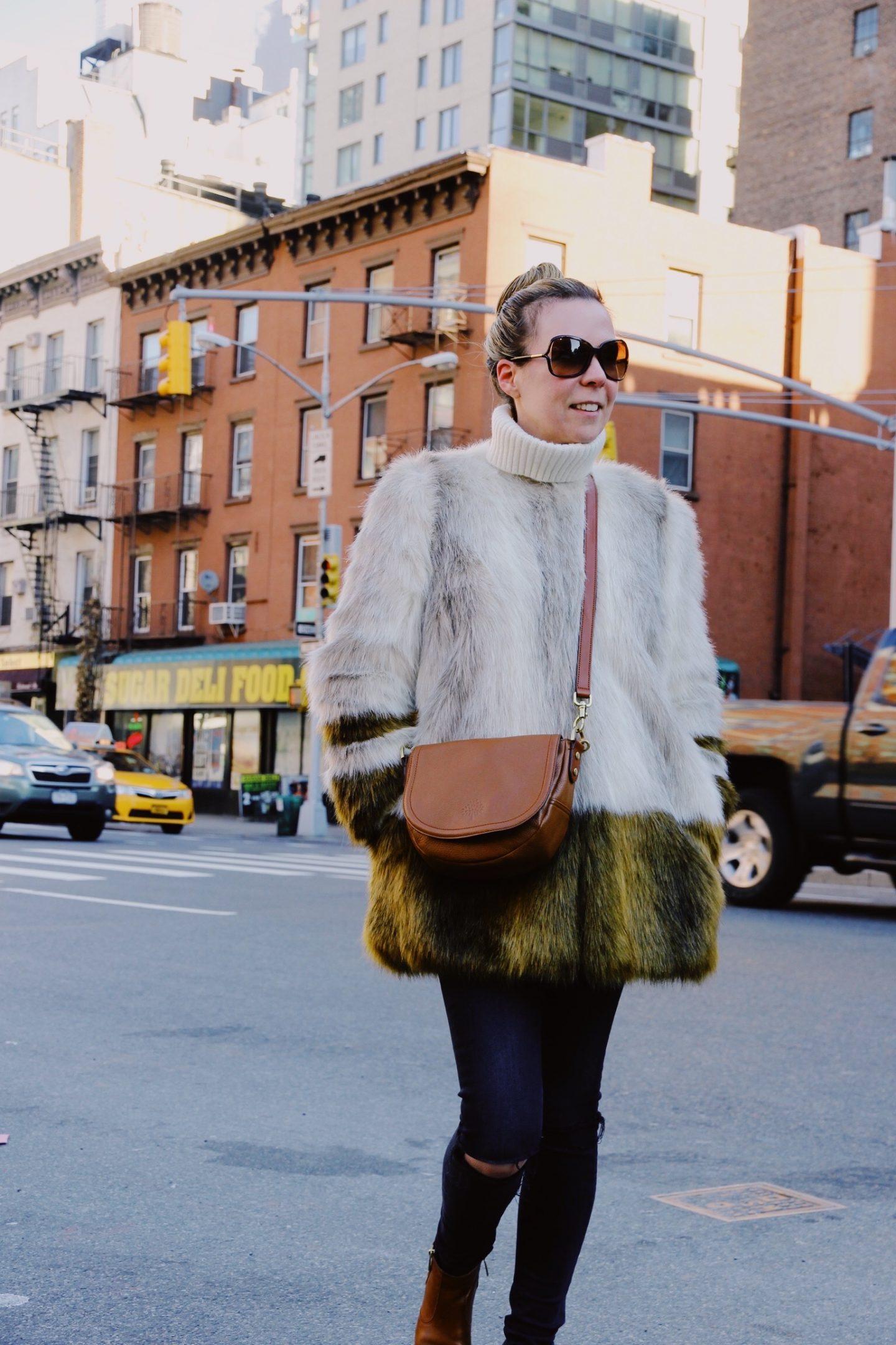 Faux Fur Coat in New York