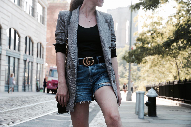 Zara Blazer and Gucci belt