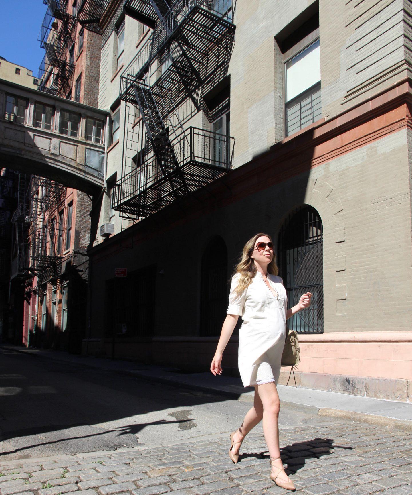 summer dress and aquazzura shoes