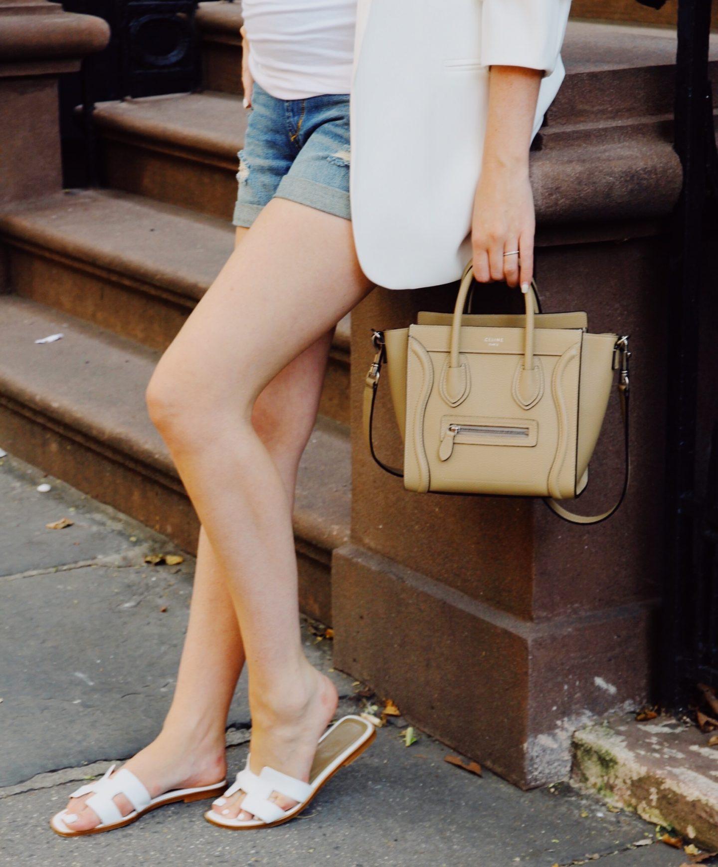 celine nano bag and hermes oran sandals