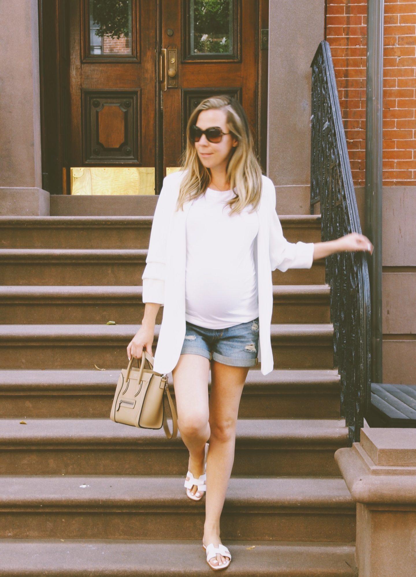 maternity fashion celine nano handbag