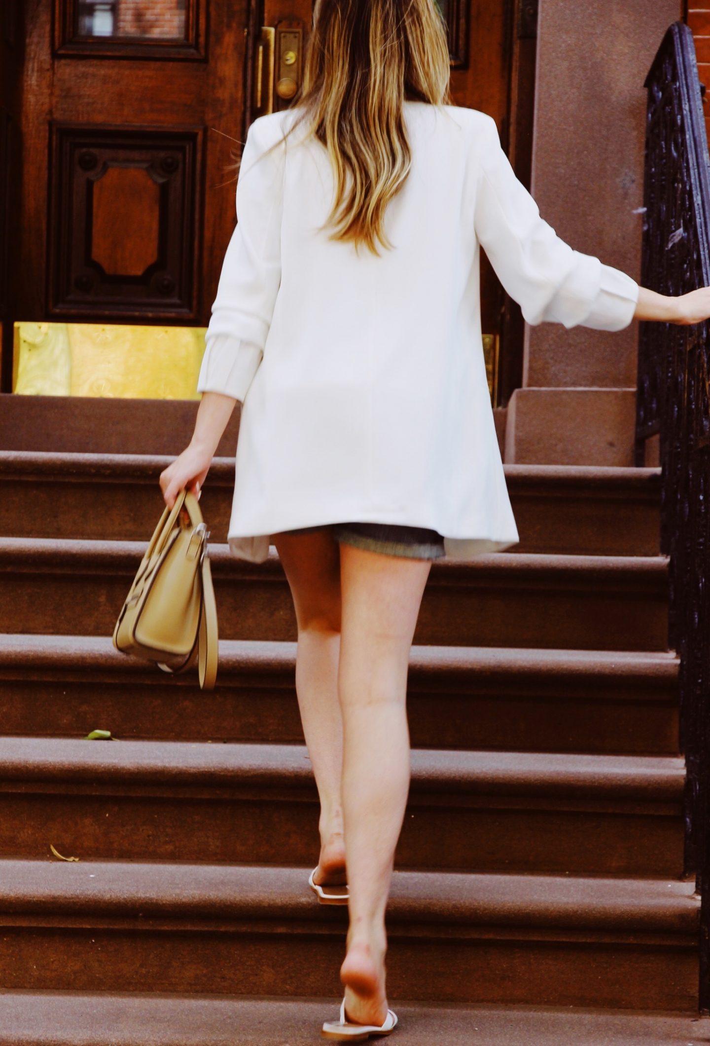 Zara White Blazer