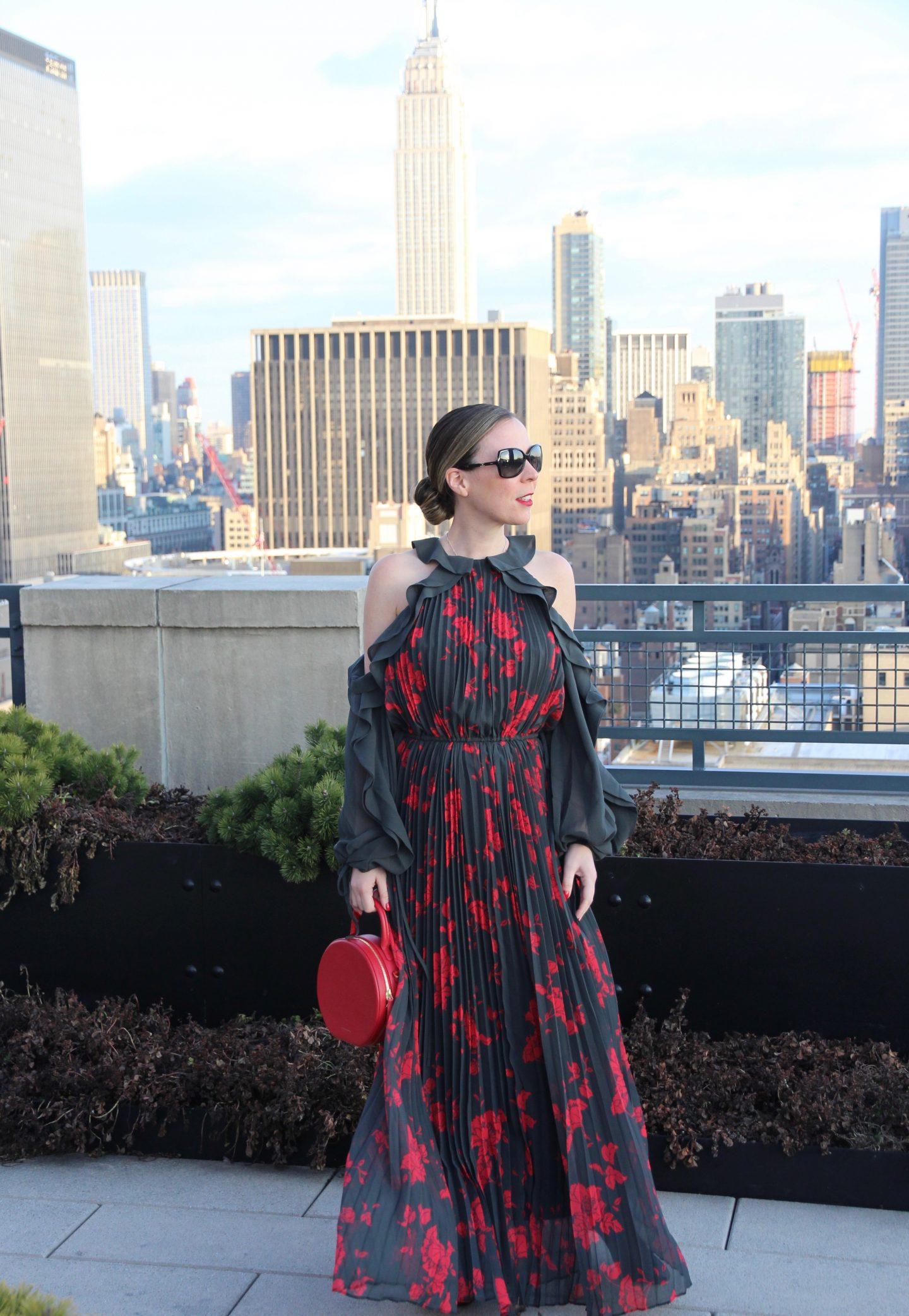 New York City Woman New Years Eve