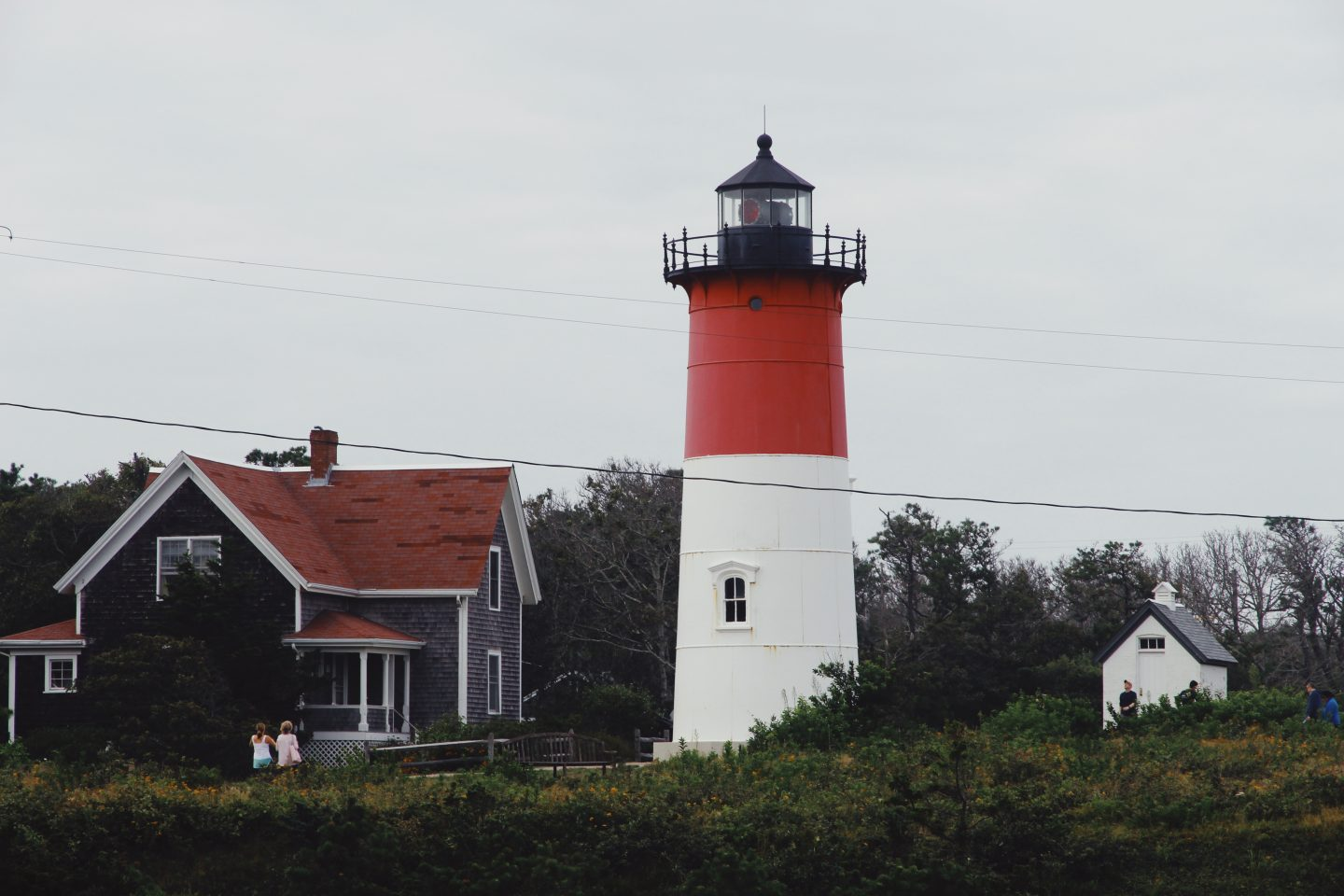 red and white light house cape cod